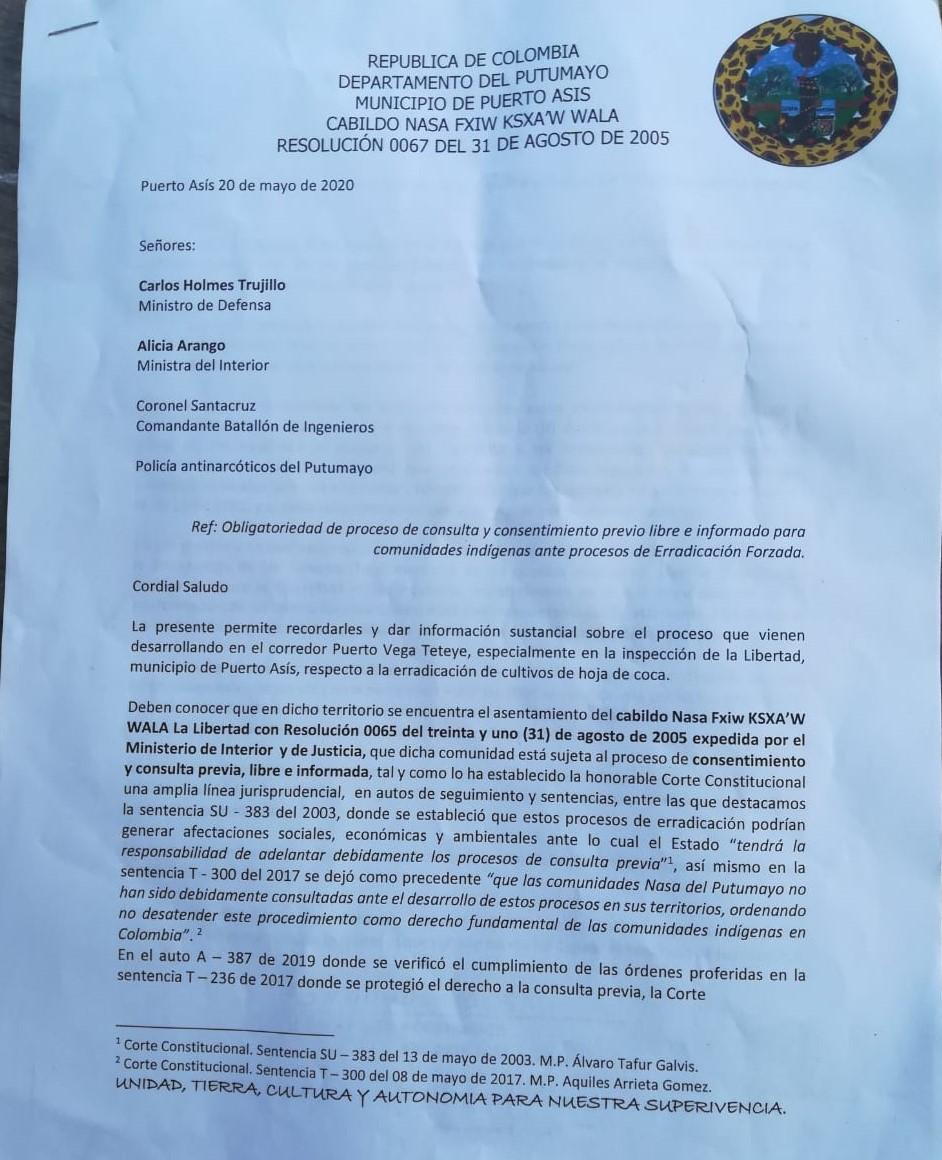 Carta Pagina 1